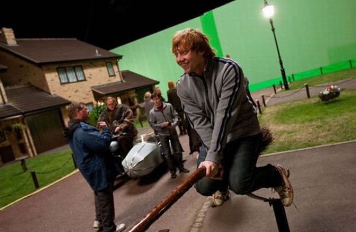 behind the scenes of harry potter movies 55 pics