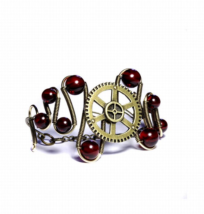 Jewelry in Steampunk Style (22 pics)