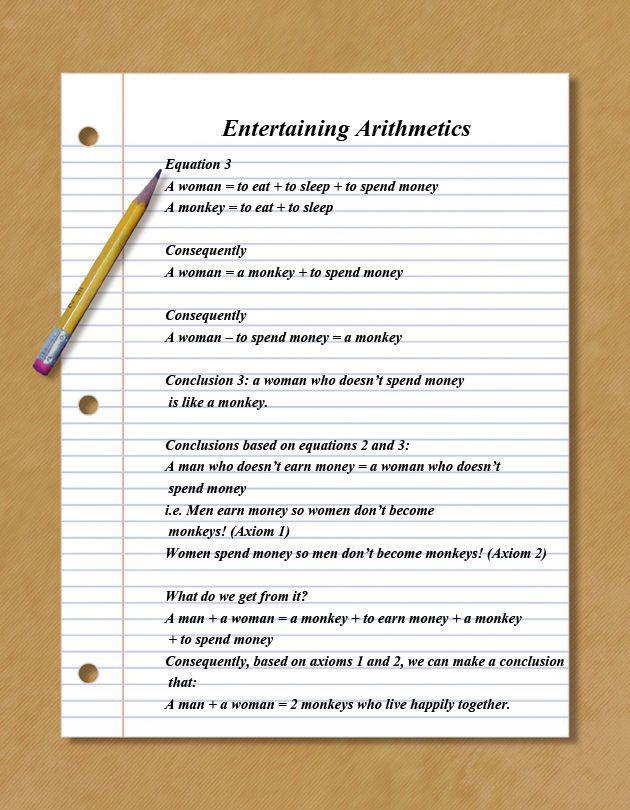 Humorous Arithmetics (3 pics)