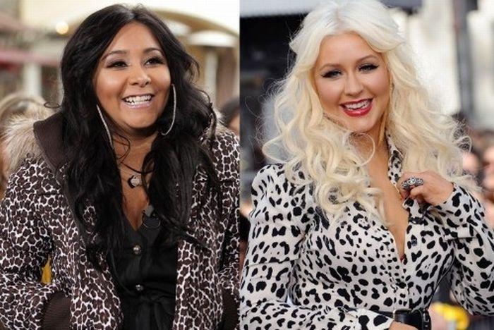 Christina Aguilera And Snooki Are Twins (10 pics)