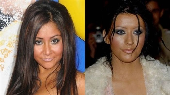 Christina Aguilera And Snooki Are Twins (10 pics)