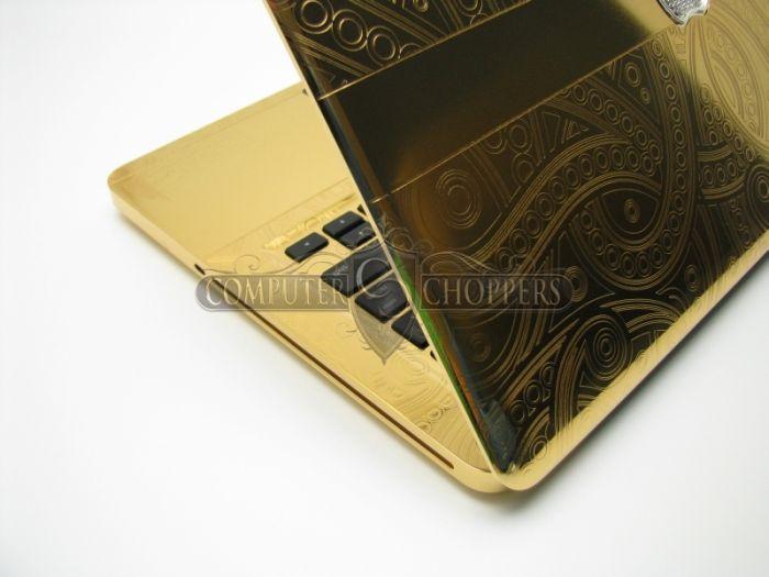 24kt Gold & Diamonds Graphic-Plated Macbook Pro (9 pics)