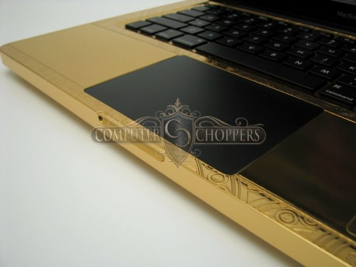 24kt Gold & Diamonds Graphic-Plated Macbook Pro (9 pics)