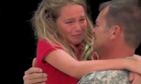 Military Dad Surprises Daughter