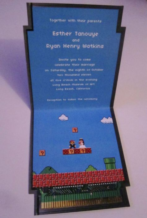 Super Mario Wedding Invitation (22 pics)