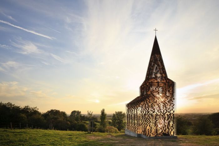 See-through Church (7 pics)