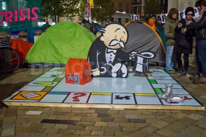 Banksy Monopoly Sculpture for Occupy London (4 pics)