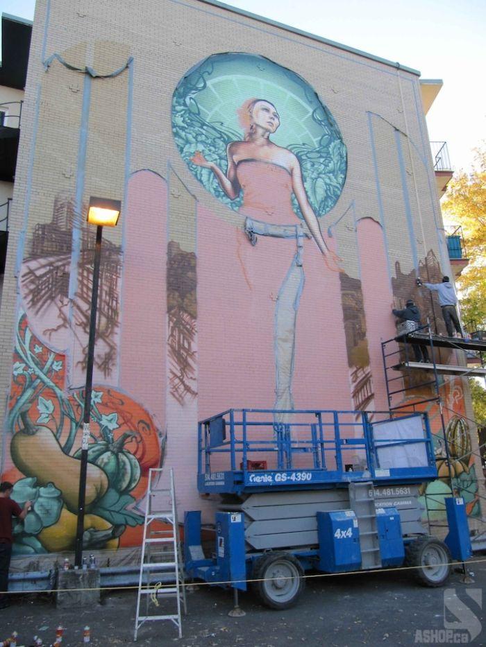 Mother Nature-esque Madonna Graffiti in Montreal (13 pics)