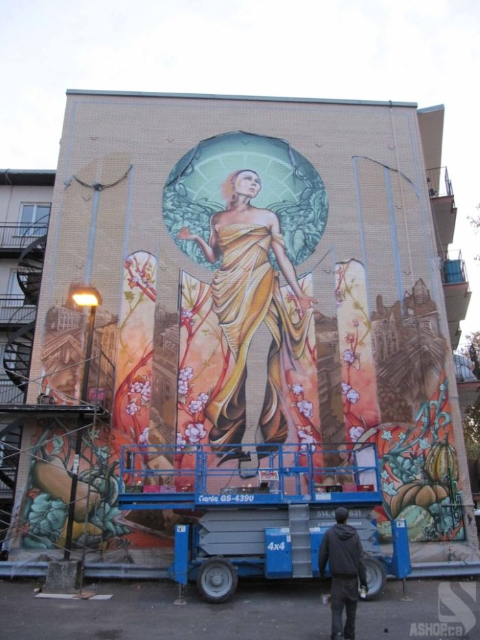 Mother Nature-esque Madonna Graffiti in Montreal (13 pics)