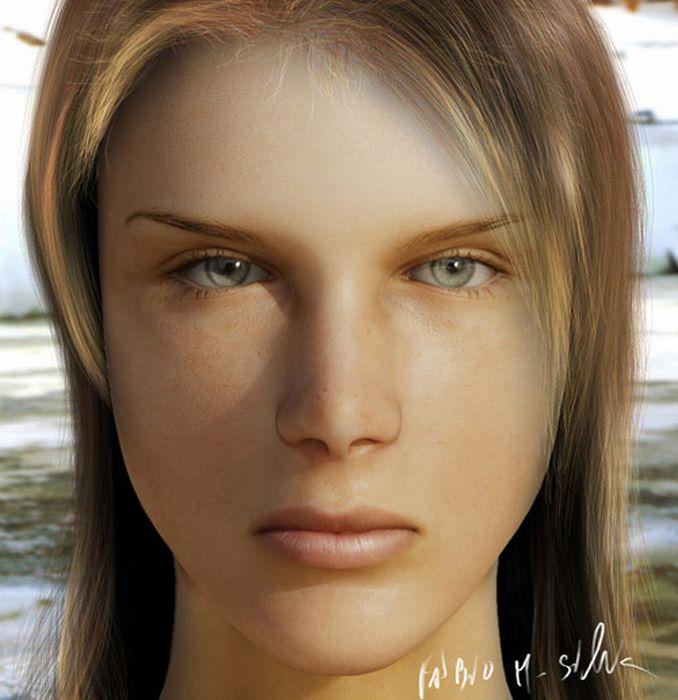 Super Realistic CG Portraits (64 pics)