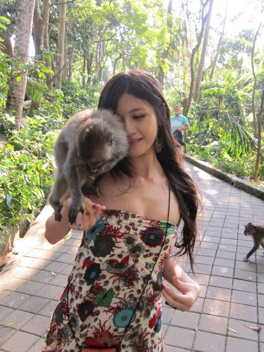 Monkeys Like the Girl (5 pics)