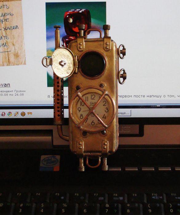 Steam-Punk Cell Phone (27 pics)