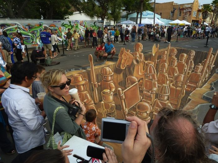 Making of the 3D LEGO Chalk Drawing (7 pics)