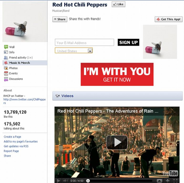 Great Examples of Facebook Fan Pages (41 pics)