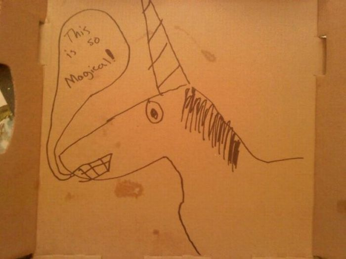 Pizza Box Drawings (28 pics)