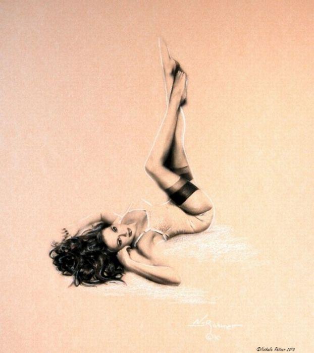 Pin Up Girl Illustrations (52 pics)