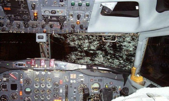 Plane vs Hailstorm (9 pics)