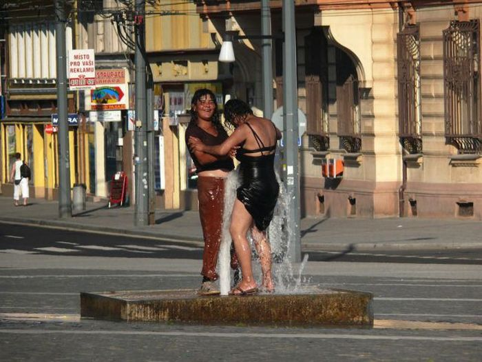 Two Drunk Women on a Hot Day (4 pics)