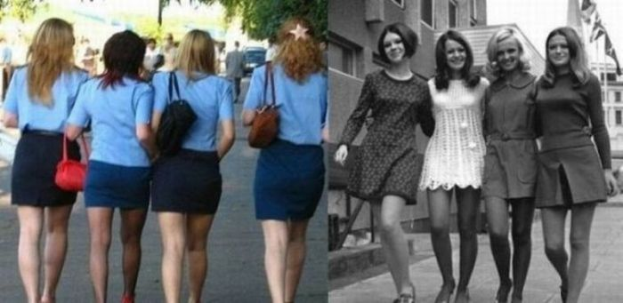 Skirts Then and Now (18 pics)