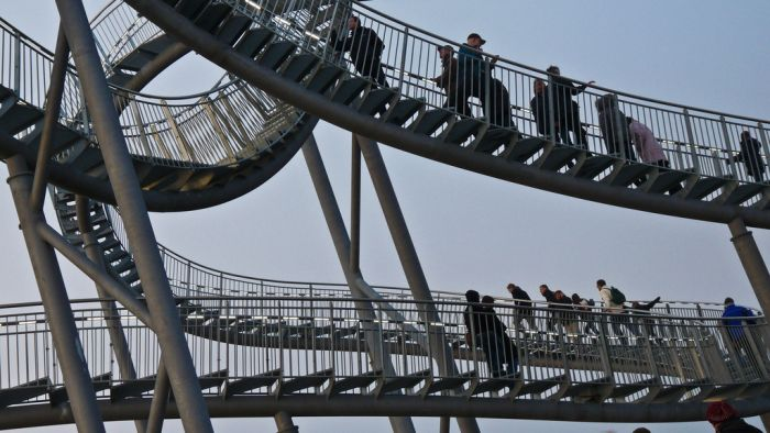 Tiger & Turtle Magic Mountain. The Walkable Rollercoaster (12 pics)