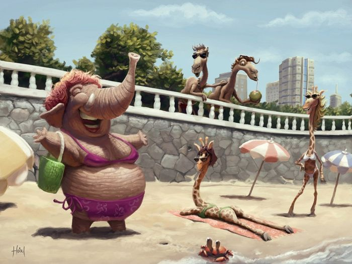 Great Illustrations by Tiago Hoisel (76 pics)