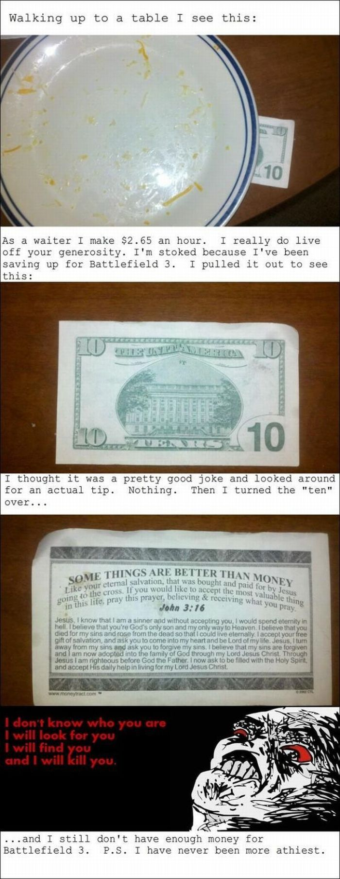 Tips a Waiter Will Never Forget (6 pics)