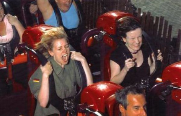 People Riding Roller Coasters. Part 2 (40 pics)