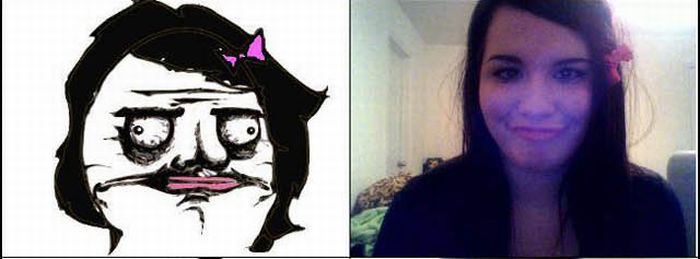 Memes Faces by a Girl (33 pics)