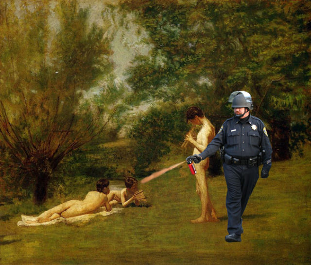Pepper Spraying Cop Memes (45 pics + 1 gif)