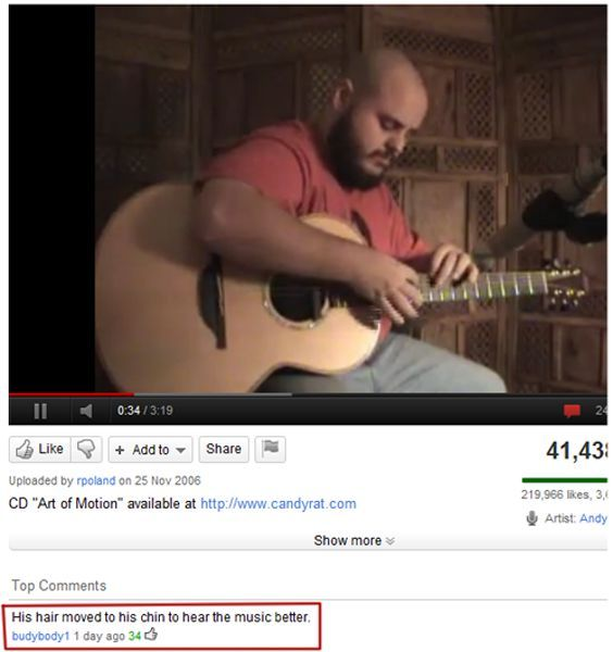 The Most Bizarre Comments on YouTube (18 pics)