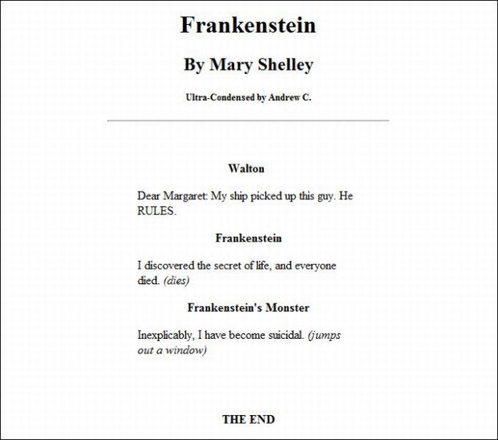 Short Condensations of Classic Books (13 pics)