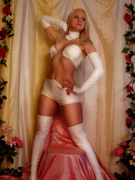 hot babes cosplay topless