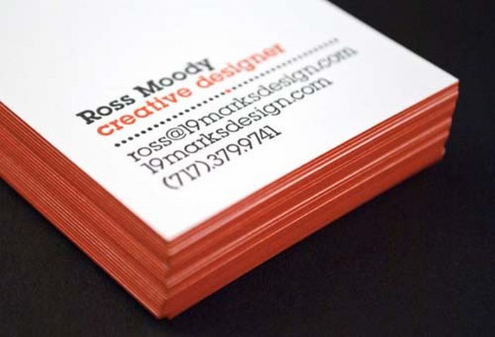 Very creative edge painted business cards 45 pics reheart Images