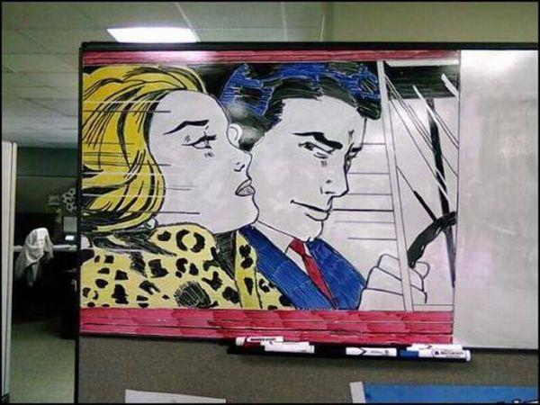 Amazing Whiteboard Artwork (14 pics)