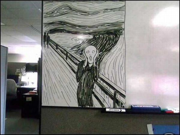 Amazing Whiteboard Artwork (14 pics)