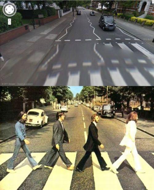 Album Covers on Google Street View (24 pics)