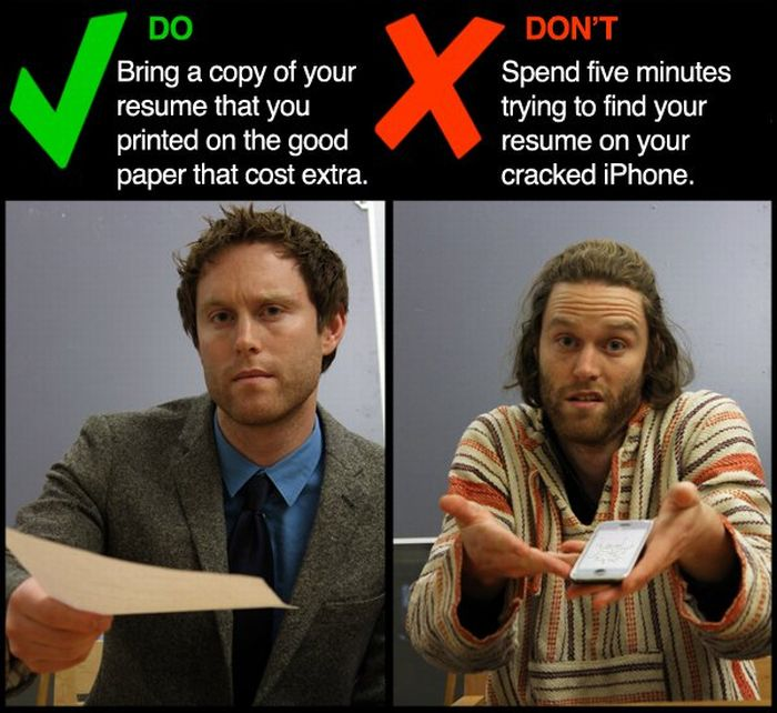 Job Interview Dos and Don'ts (9 pics)