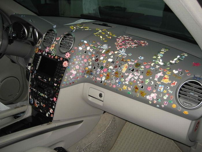 Crazy Mercedes Decoration (5 pics)