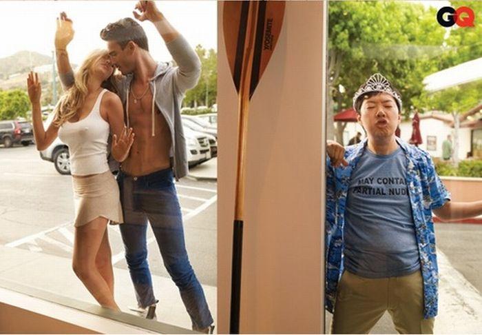 Ken Jeonga's Photobombing Skills (4 pics)