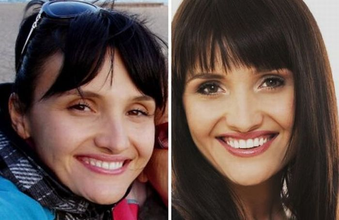 Girls With and Without Makeup (29 pics)