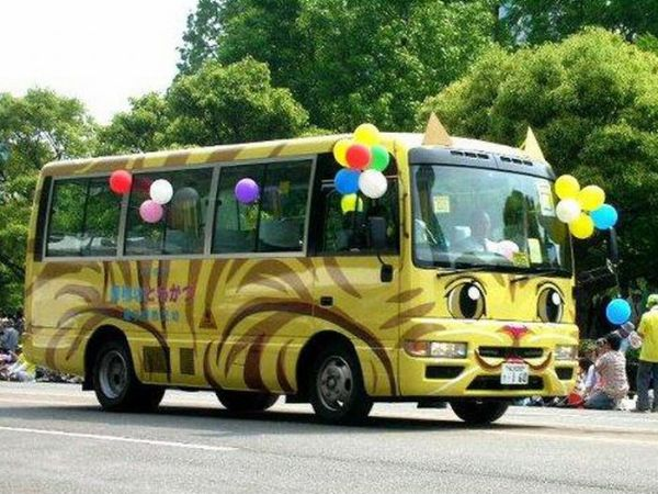 Crazy Japanese School Buses (25 pics)
