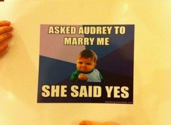 Meme Marriage Proposal (20 pics)