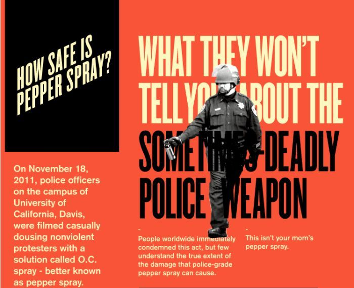 How Safe is Pepper Spray? (infographic)