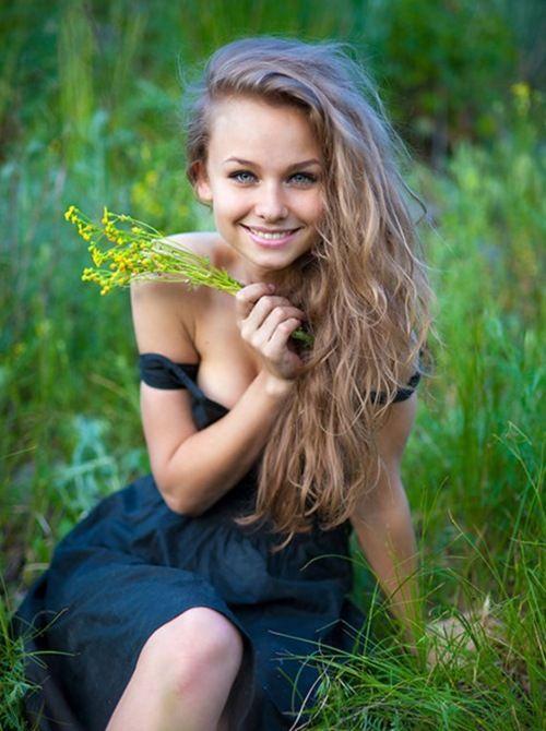 Hermosas sonrisas de mujeres