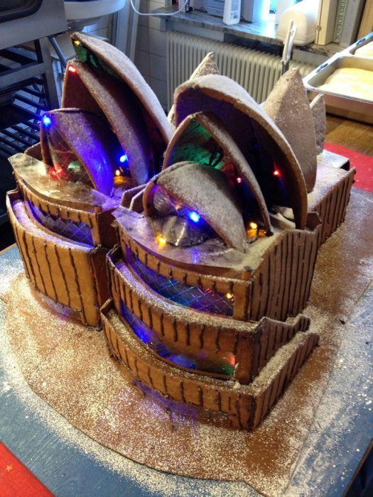 Gingerbread Sydney Opera House (9 pics)