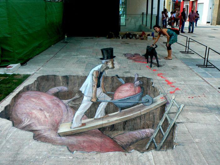Amazing 3D Street Art Illusions (30 pics)