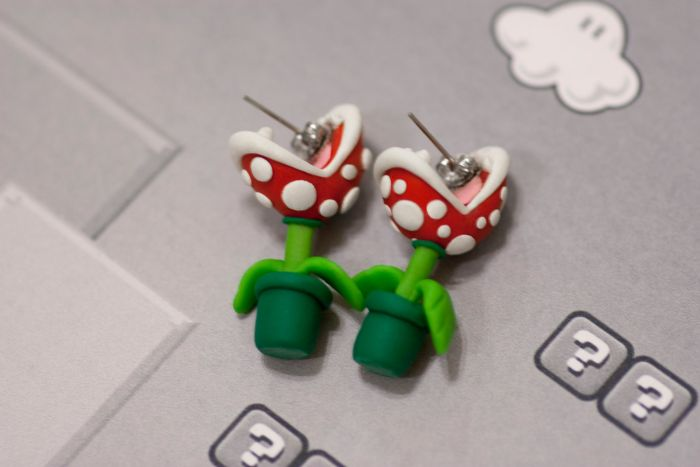 Super Mario Piranha Plant Earrings (5 pics)