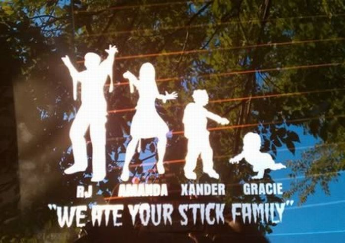 Funny Family Car Stickers (12 pics)