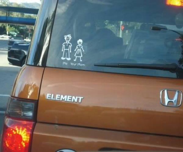 Funny Family Car Stickers (12 pics)