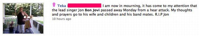 "Reactions to Jon Bon Jovi's ""Death"" (31 pics)"